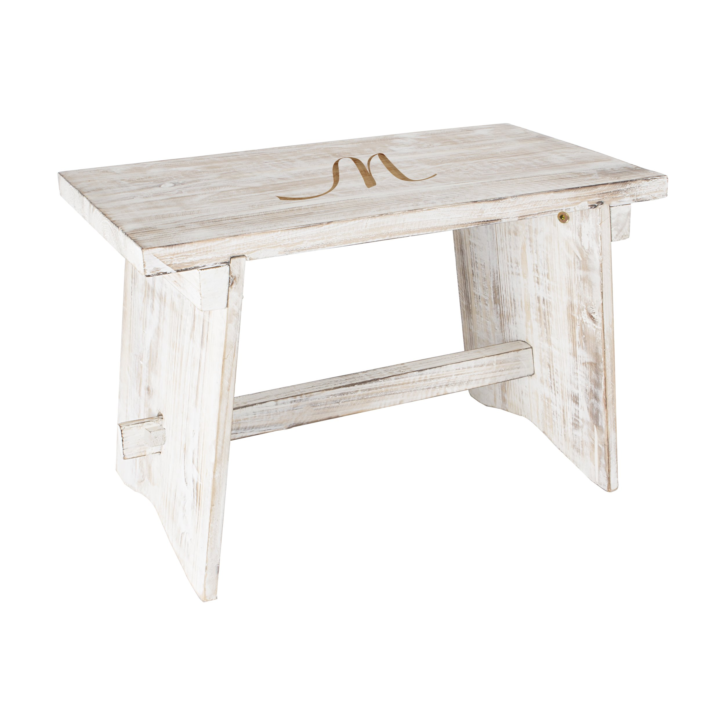 Personalized Wooden Guestbook Bench