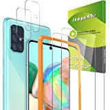 [2+2 Pack] UniqueMe Camera Lens Protector and Screen Protector for Samsung Galaxy A71 4G / 5G,Tempered Glass [Easy…