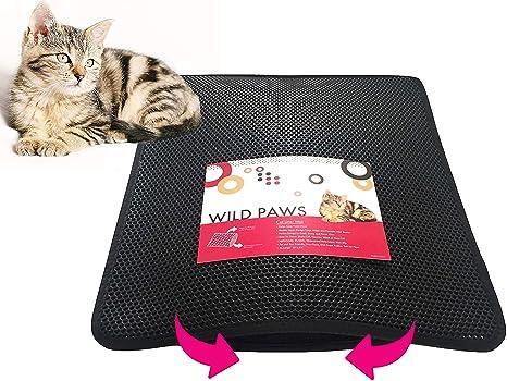 3a1bc802f Wild Paws Cat Litter Mat XL Double-Layer Honeycomb Cat Litter Trapper Mat  with Waterproof