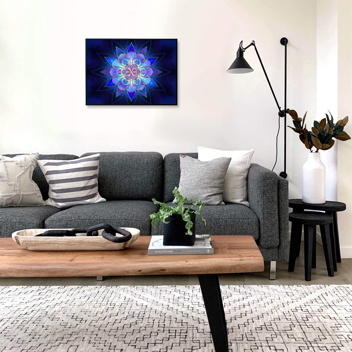 Ritoti DIY 5D Diamond Painting Kits for Adults Beginners Full Drill Crystal Rhinestone Pictures Arts Craft for Home Wall Decor 11.81x15.75 Inch,Purple Mandala