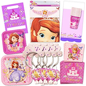 Amazoncom Disney Sofia the First Party Supplies Ultimate Set