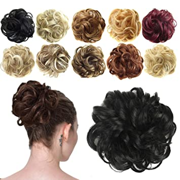 Messy Hair Bun Extensions Curly Hair Wavy Hair Pieces For Wom