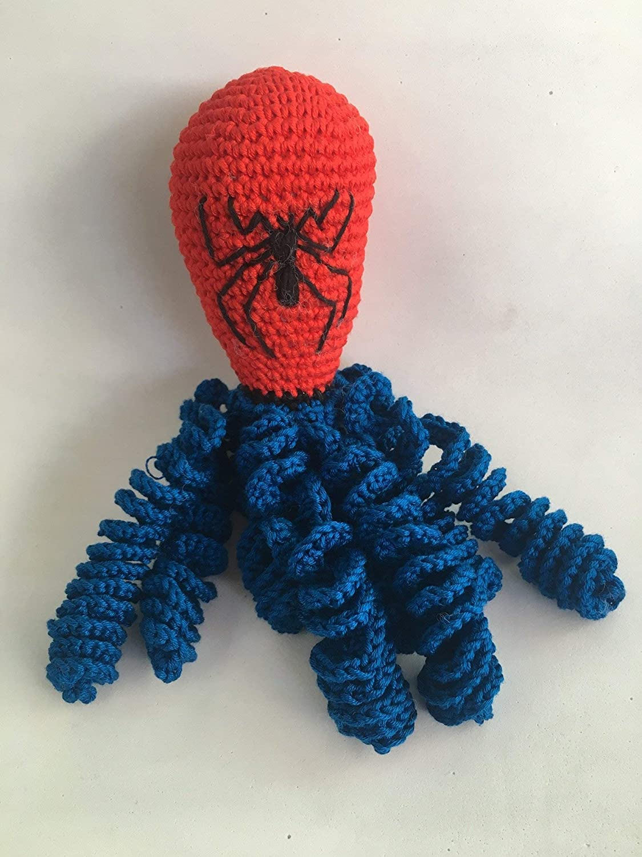 Pulpo Spiderman de crochet para recien nacidos, pulpo amigurumi para ...