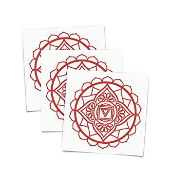 Amazon com : Tattoo Moments Chakras Temporary Tattoos - Root