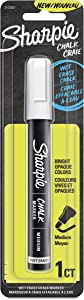 Sharpie Chalk Marker, Wet Erase Markers, White, 1 Count