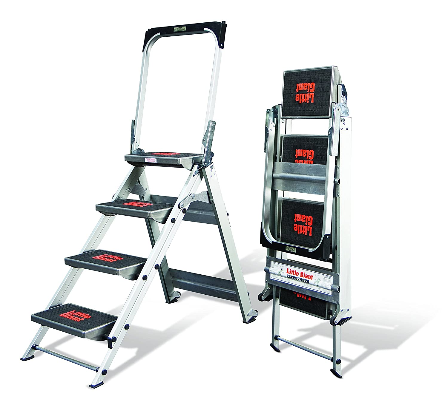 Little Giant Ladder Systems 10410BA Safety Stepladder with Bar and Tray 4-Step