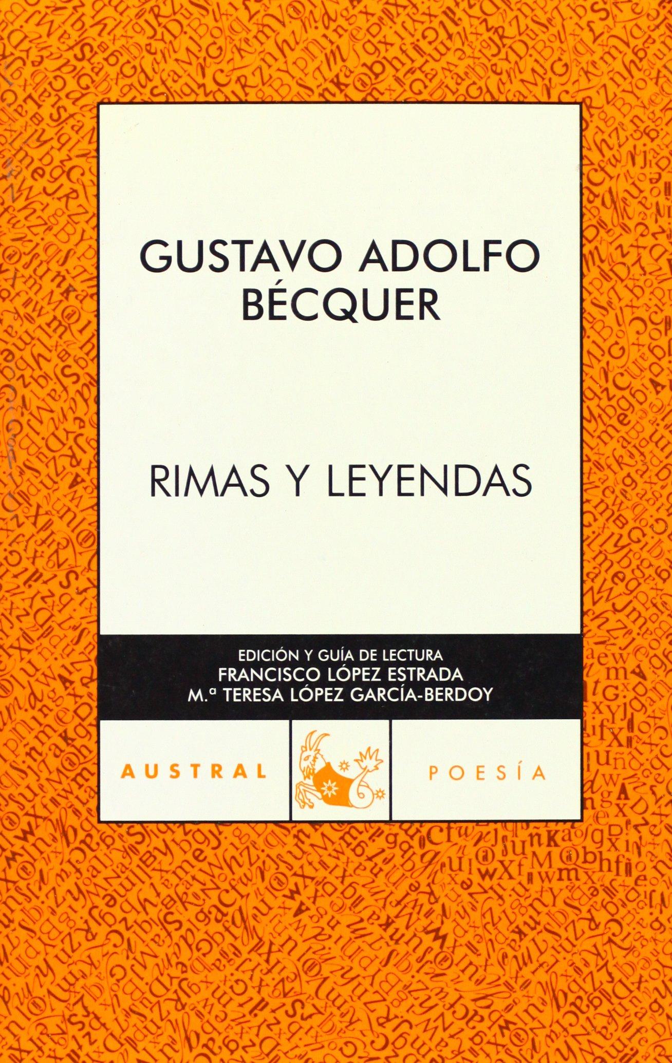 Rimas Y Leyendas Narrativa Amazones Gustavo Adolfo Bécquer Libros
