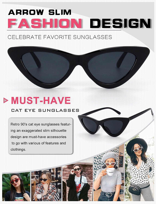 GQUEEN Gafas Vintage Clout Lentes de sol tipo ojo de gato Estilo a la moda y con protecci/ón UV lentes tipo Kurt Cobain,GQZ7