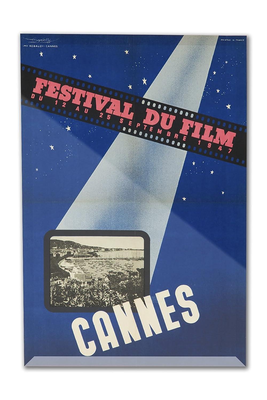 Cannes Film Festival 1947ヴィンテージポスター(アーティスト: Serre )フランスC。1947 8 x 12 Acrylic Photo Block Decor LANT-3P-AC-PB-62086-8x12 8 x 12 Acrylic Photo Block Decor  B01N3JX6ZW
