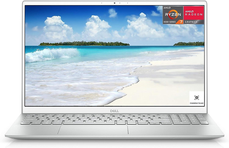 2021 Newest Dell Inspiron 5000 Laptop, 15.6 FHD LED-Backlit Display, AMD Ryzen 7 4700U, 32GB DDR4 RAM, 1TB PCIe SSD, HDMI, Webcam, Backlit Keyboard, WiFi, Bluetooth, FP Reader, Win10 Home, Silver