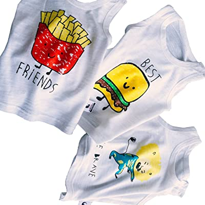 Newborn Baby Summer Vest Cute Twins T shirt Cotton Tees Tops