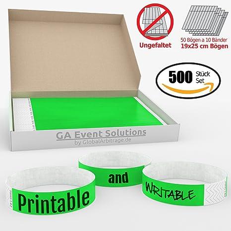 100 Eintrittsbänder Kontrollbänder Eventbänder Einlassbänder Punkte grün