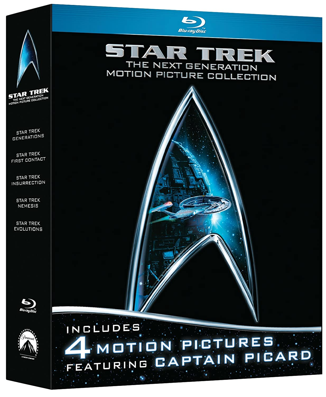 Star Trek: The Next Generation Motion Picture Collection (First Contact /Generations / Insurrection / Nemesis) [Blu-ray]