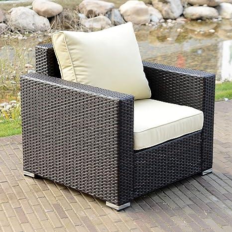 Nuevo sofá de mimbre conjunto 1pc jardín Patio muebles de ...