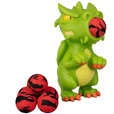Hog Wild Dragon Popper Toy - Shoot Foam Balls Up to 20 Feet - 6 Balls Included - Age 4+: Toys & Games