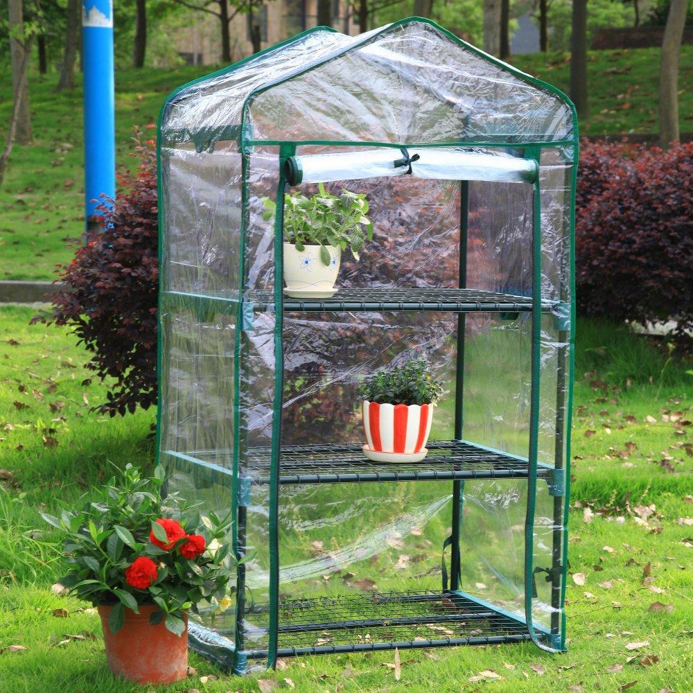 amazon com arcadia garden products gh03 3 tier mini greenhouse