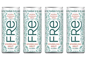 [Pack of 4] Sutter Home FRE Alcohol Removed Wine In Can (SPARKLING BRUT)