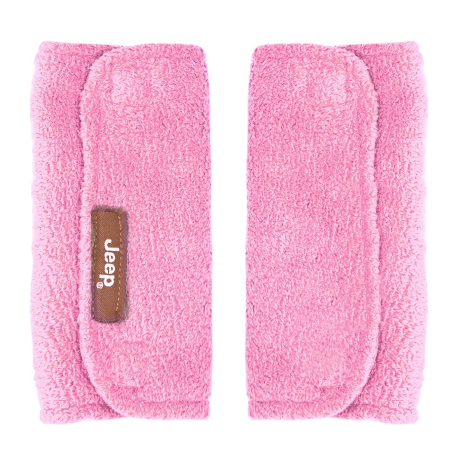 Jeep Car Seat Strap Covers 2 Pack, Plush Pink - Styles May Vary HIS Juveniles 90149P
