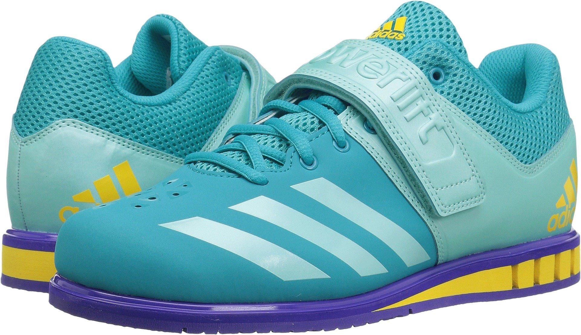adidas Performance Women's Powerlift-3-1 w Cross-Trainer Shoes, Energy Blue/Energy Aqua/Noble Ink, (8 Medium US)