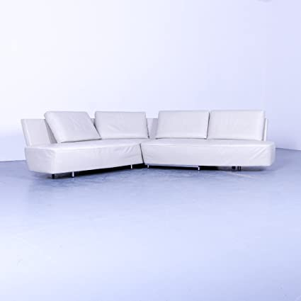 Amazon Com Walter Knoll Drift Designer Leder Eck Sofa Weiss Couch