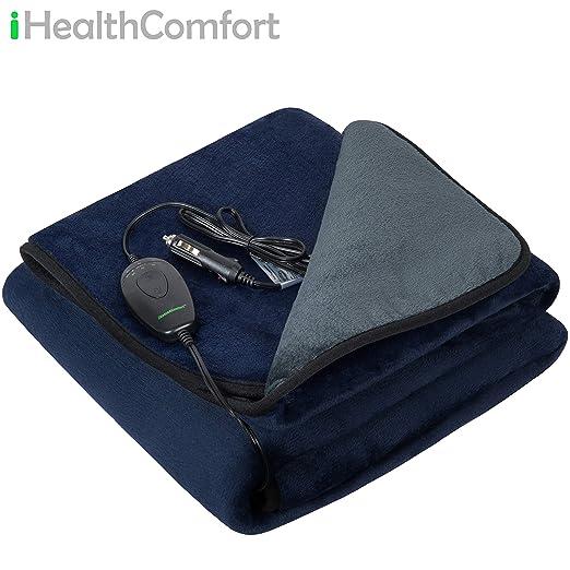 Amazon.com: iHealthComfort - Manta de viaje eléctrica, 12 V ...