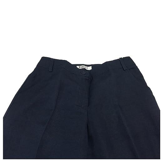 Donna Con Fondo 40 Risvolto Pantalone 31 Blu 60 Marella Lino Cm gw5qfnaxO