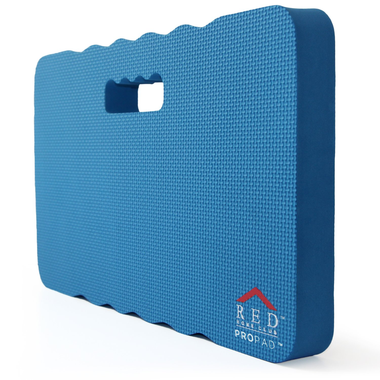 RED Home Club Thick Kneeling Pad - Garden Kneeler for Gardening, Bath Kneeler for Baby Bath, Kneeling Mat for Exercise & Yoga - Extra Large (XL) 18x11, THICKEST 1-½'', Blue