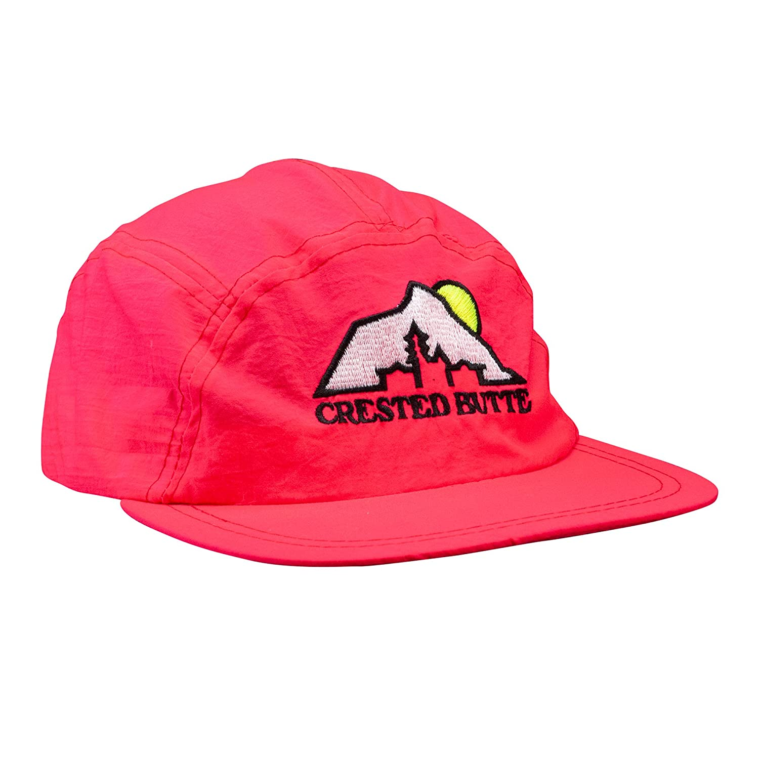 Amazon.com  Crested Butte 5-Panel Neon Melon Hat - 100% Authentic Vintage  Old Stock  Clothing cd2e023d5c6