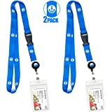 Cruise Lanyard & Card Holder by CRUISE ON - Anchor Design [2 Pack]