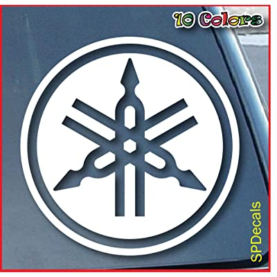"Yamaha Car Window Vinyl Decal Sticker 4"" Wide (Color: White): Automotive"