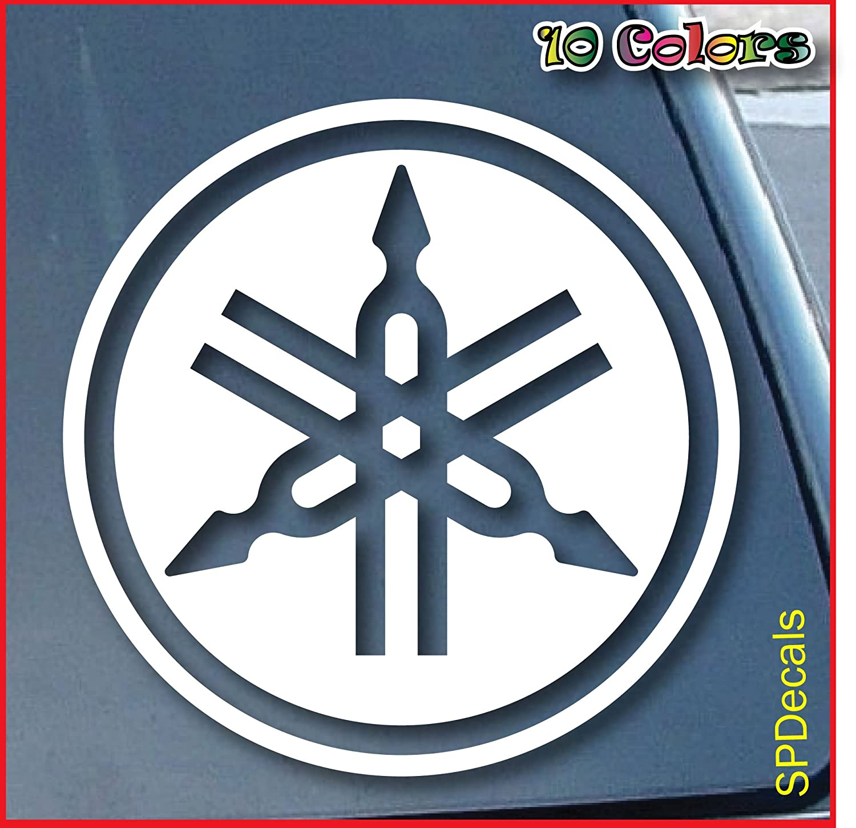 Amazon com yamaha car window vinyl decal sticker 4 wide color white automotive