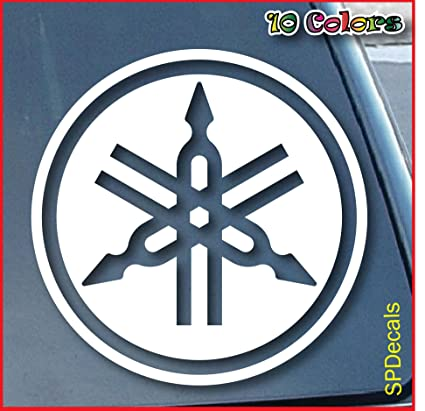 Yamaha car window vinyl decal sticker 4 wide color
