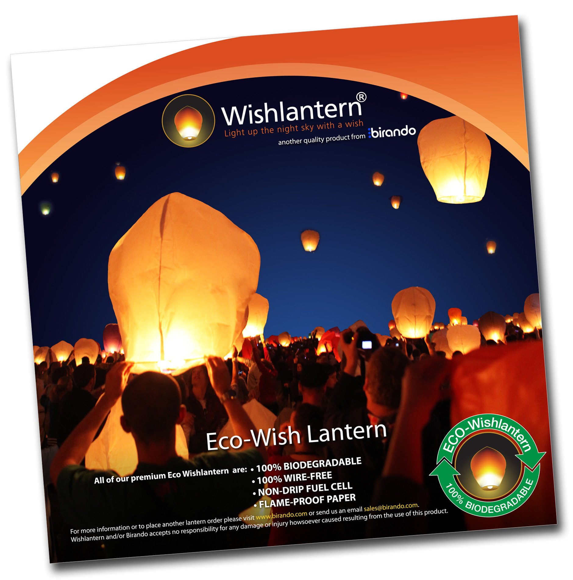 Eco Sky Lanterns (Pack of 100)