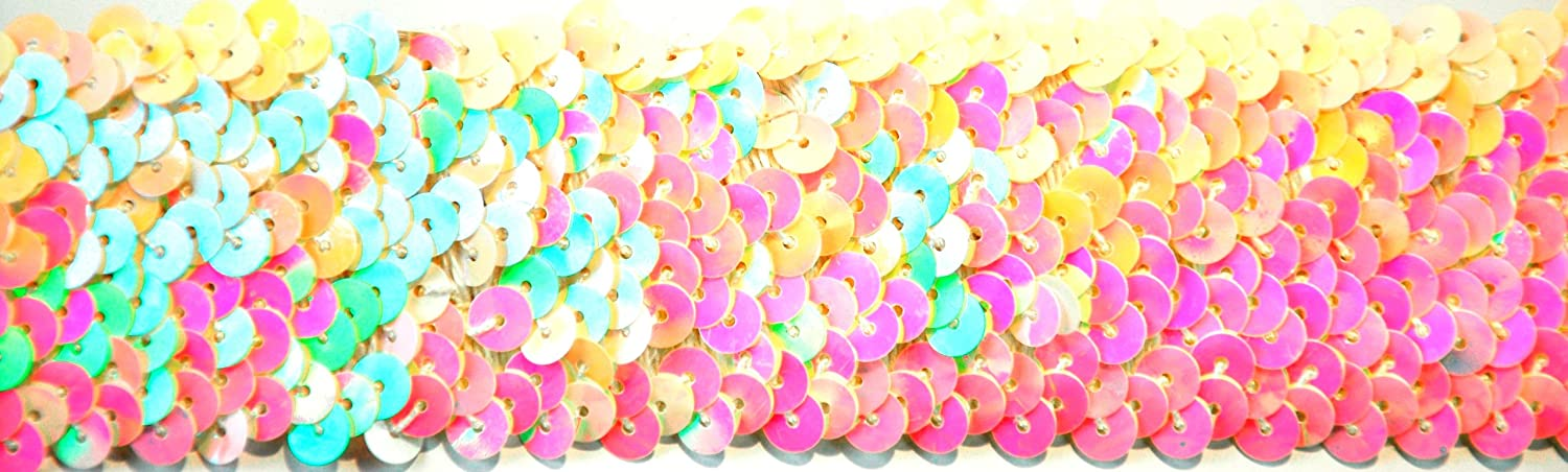 BELAGIO BK-303-20 Elastic Sequin Trimming, 38mm, Pink Belagio Enterprises