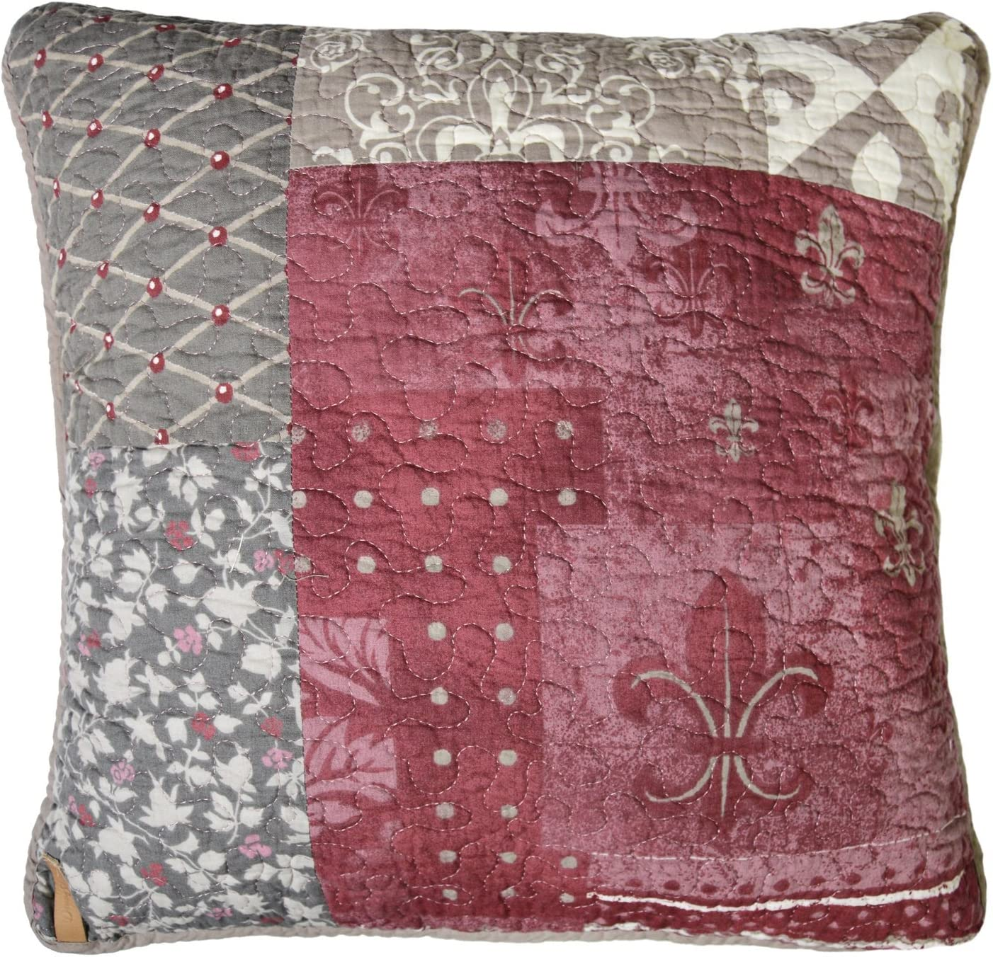 Donna Sharp Throw Pillow - Fleur de Lis Square Contemporary Decorative Throw Pillow with Multicolored Pattern - Square