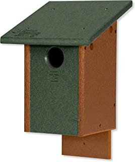 product image for DutchCrafters Classic Bluebird Poly Bird House - Post Mount (Turf Green & Cedar)