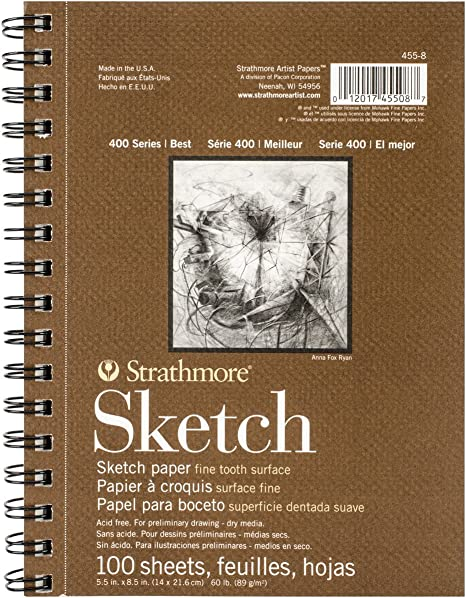 9x12 Wire Bound Fоur Paсk 24 Sheets Each Strathmore 2-Pack 400 Series Drawing Pad