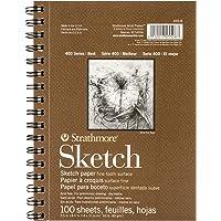 "Strathmore 455-8 Strath Sketch S 400 5.5X8.5100SHT60LB, 5.5"" 8.5"", White 100 Sheets"