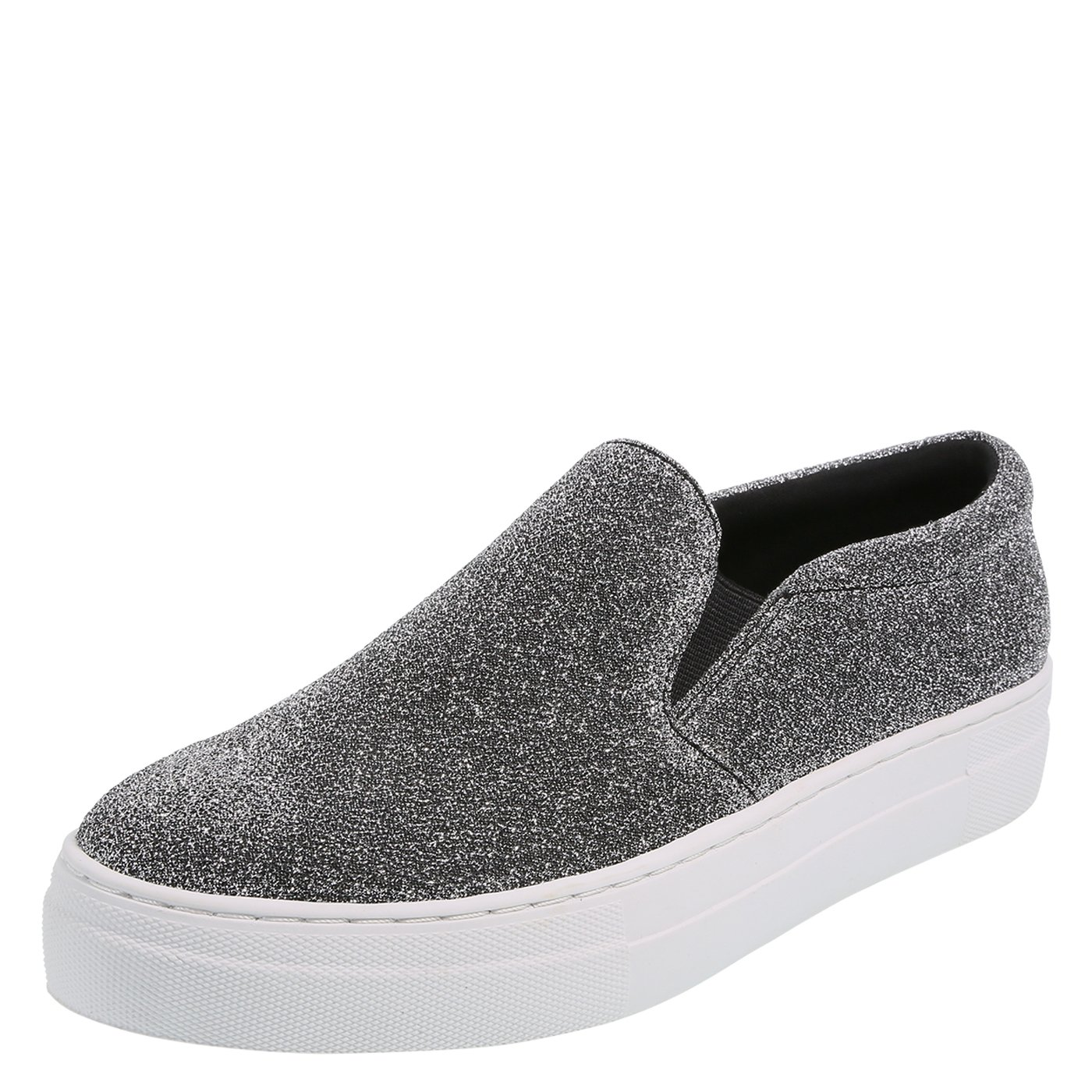Brash Women's Evonne Slip-On Sneaker B07CHV1Q2P 12 B(M) US|Silver Lurex