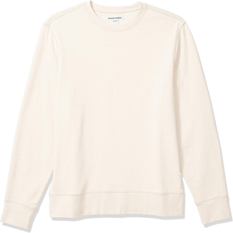 Amazon Essentials Men's Long-Sleeve Lightweight French Terry Crewneck Sweatshirt