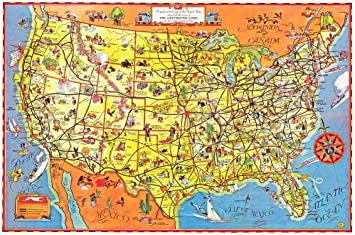 The Greyhound Route Map of the United States 1937 - Paper Laminated ...