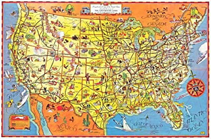 The Greyhound Route Map of the United States 1937 - Paper ...