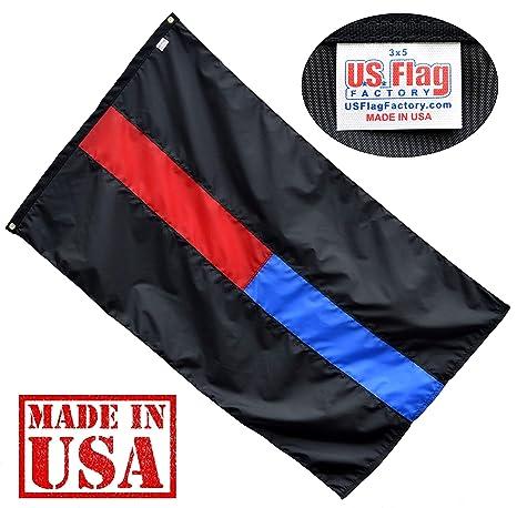 e4f7816e26f7 Amazon.com   US Flag Factory 3 x5  Dual-Line Flag (Thin-Red Thin ...