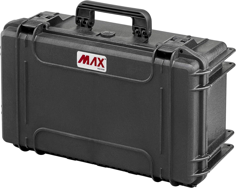 Max MAX505CAM IP67 resistente al agua nominal de tapas rígidas para fotografía equipo estanca resistente de transporte plástico/compartimentos acolchados/caja de transporte para iMac/caja de herramien