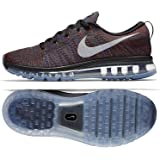 quality design 03cdb 0407e Nike Flyknit Air Max 620469-016 Black Blue Red Men s Reflective Running  Shoes
