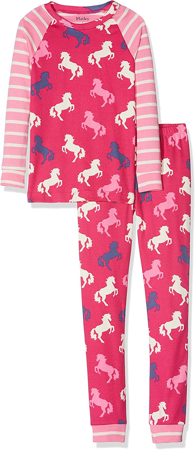 Hatley Kids Baby Girls Pretty Rainbows Organic Cotton Pajama Set Toddler//Little Kids//Big Kids