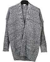 SAYM Women's No Loose Cardigan Sweater Coat Bold Lines Knit