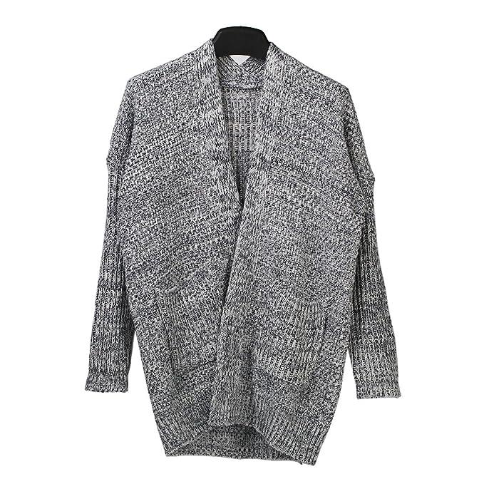 Amazon.com: saym no de la mujer Loose chaqueta de punto ...