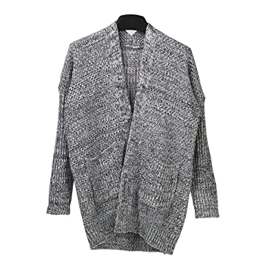 Amazon.com: SAYM Women's No Loose Cardigan Sweater Coat Bold Lines ...