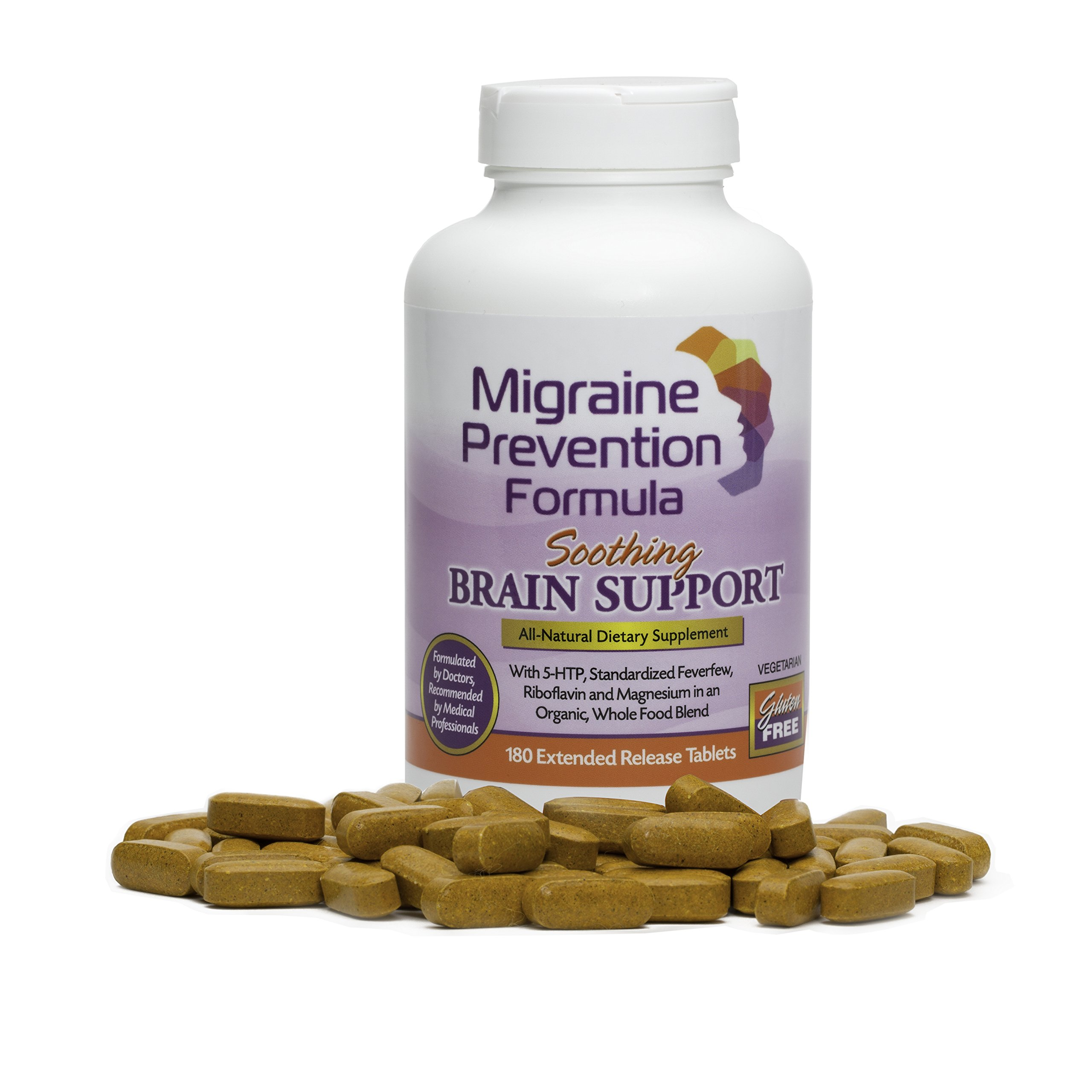 Dr. Knowles - Migraine Prevention Formula - 180 Caplets - 3 Month Supply - Headache Treatment and Relief - Prevent Migraines While You Treat by Free Shipping available! - Dr. Andrew Knowles - Anesthesiologist, Pain Management Specialist, treat / prevent migraines and episodic / chronic headaches